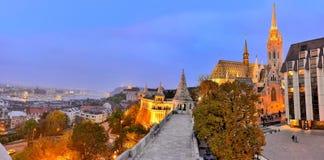 Budapest, panoramiczny widok Fotografia Stock