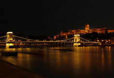 Budapest par nuit Photo libre de droits