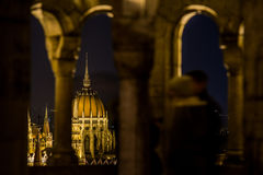 Budapest pariament view. Budapest parlament view form fisherman bastion Stock Images