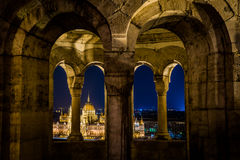 Budapest pariament view. Budapest parlament view form fisherman bastion Royalty Free Stock Image