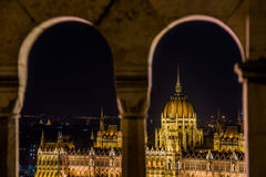 Budapest pariament view. Budapest parlament view form fisherman bastion Stock Photography