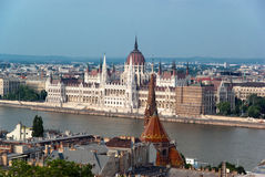 Budapest-Parlament Stockbild