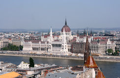 budapest parlament arkivfoton
