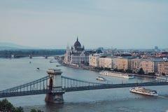 Budapest parlament fotografia royalty free