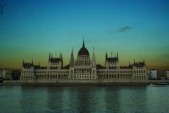 Budapest parlament arkivbild