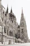 Budapest-Parlament (einfarbig) lizenzfreie stockbilder