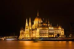 Budapest-Parlament nachts Stockfoto