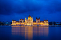 Budapest-Parlament nachts Lizenzfreies Stockbild