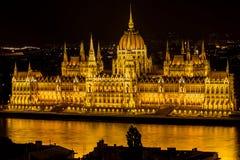 Budapest - Parlament nachts Stockbilder