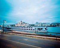 Budapest parlament po zmierzchu zdjęcia royalty free