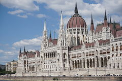 Budapest Parlament. Shot from the Danube river Stock Image