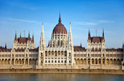 Budapest parlamentbyggnad Arkivfoton