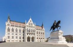 Budapest parlamentbyggnad Royaltyfri Foto