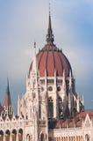 Budapest parlamentdelail Royaltyfri Fotografi