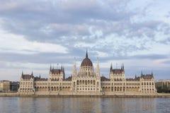 Budapest-Parlamentsnahaufnahme stockbild