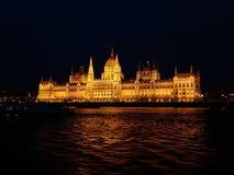 Budapest parlement at night. Hungary. Light. Achitecture Stock Photos