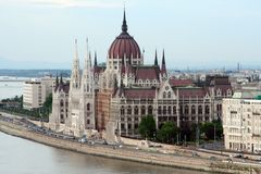 Budapest parliament. View of Budapest parliament near the Danube Stock Photos
