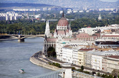 Budapest parliament. Famous Hungarian landmark Royalty Free Stock Photography