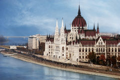Budapest Parliament. The Parliament in Budapest, Hungary Stock Photos