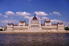 Budapest parliament. Parliament building in Budapest, capital of Hungary Royalty Free Stock Photo
