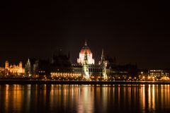 Budapest Parliament. Danube in front Stock Image
