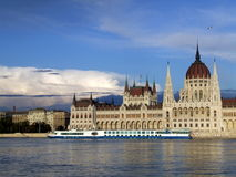 Budapest parliament. Budapest in September, parliament at sunset Stock Photo