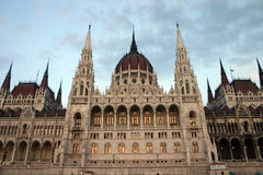 Budapest parliament.  stock image
