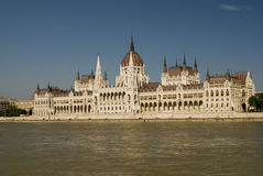 Budapest Parliament Building. River Danube and Parliament Building in Budapest Royalty Free Stock Photography