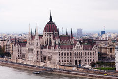 Budapest Parliament Building on the Danube Stock Images