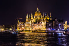 Budapest Parliament building in Hungary at twilight. Stock Photo