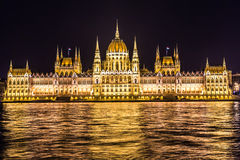 Budapest Parliament building in Hungary at twilight. Royalty Free Stock Photos