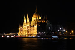 Budapest Parliament Building, at night Stock Photography