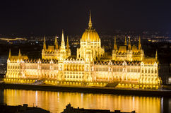 Budapest, Parliament building at night Royalty Free Stock Photo