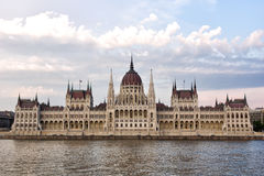 Budapest parliament contrast shot Royalty Free Stock Images