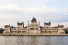 Budapest parliament day shot Royalty Free Stock Images