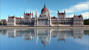 Budapest - parliament at day - time lapse stock video