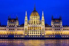 Budapest Parliament at Evening Royalty Free Stock Photos