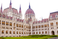 Budapest Parliament. Famous Parliament building in Budapest, Hungary, a close up view Royalty Free Stock Photo