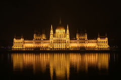 Budapest Parliament Night Stock Images