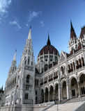 Budapest Parliament - Hungary. Budapest Parliament in the sunset light Stock Photo