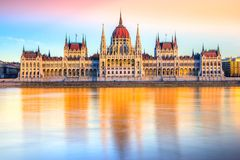 Budapest Parliament, Budapest, Hungary royalty free stock photography