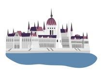 Budapest Parliament  illustration Stock Photo