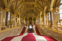 Budapest Parliament. The main stairs, Parliament Buildings, Budapest, Hungary Stock Photos