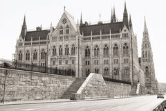 Budapest parliament (monochrome) Stock Photography