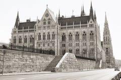 Budapest parliament (monochrome) Stock Photography