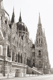 Budapest parliament (monochrome) Royalty Free Stock Images