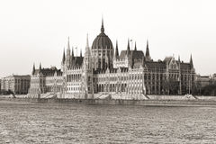 Budapest parliament (monochrome) Stock Images
