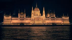 Budapest Parliament at night Stock Photos