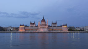 Budapest parliament night shot Stock Images