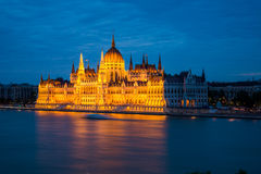 Budapest  Parliament, night view. Royalty Free Stock Photo